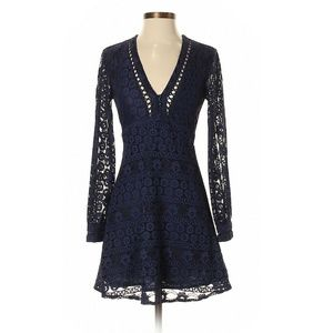 Top Shop Dark Blue Lace Dress